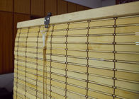 Smooth Surface Bamboo Patio Shades , Window Curtains Bamboo Custom Color